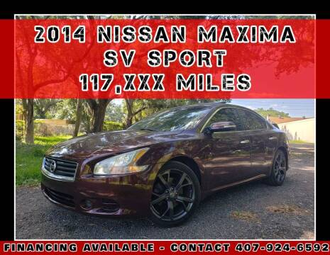 2014 Nissan Maxima for sale at AFFORDABLE ONE LLC in Orlando FL