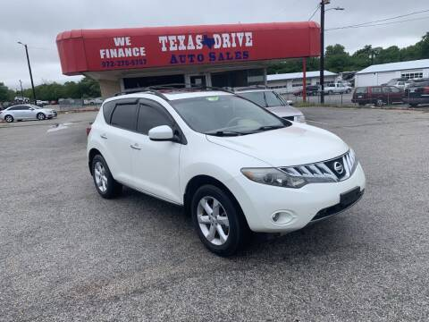 2009 Nissan Murano for sale at Texas Drive LLC in Garland TX