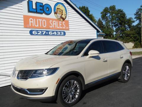 2016 Lincoln MKX for sale at Leo Auto Sales in Leo IN