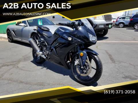 2011 Kawasaki Ninja for sale at A2B AUTO SALES in Chula Vista CA