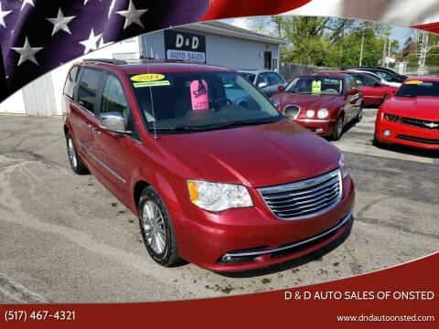 2014 Chrysler Town and Country for sale at D & D Auto Sales Of Onsted in Onsted   Brooklyn MI