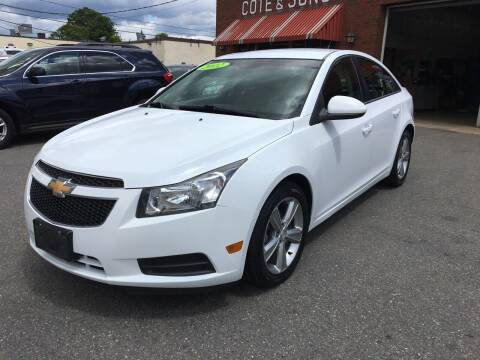 2012 Chevrolet Cruze for sale at Cote & Sons Automotive Ctr in Lawrence MA