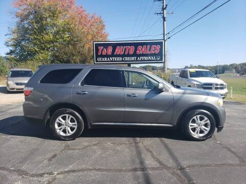 2011 Dodge Durango for sale at T & G Auto Sales in Florence AL