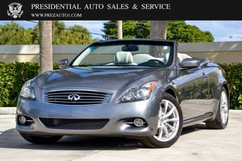 2014 Infiniti Q60 Convertible for sale at Presidential Auto  Sales & Service in Delray Beach FL