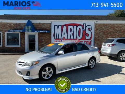 2011 Toyota Corolla for sale at Mario's Used Cars in Houston TX