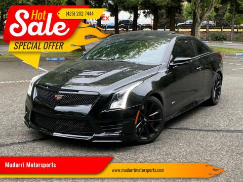 2016 Cadillac ATS-V for sale at Mudarri Motorsports in Kirkland WA