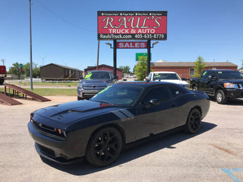 2015 Dodge Challenger for sale at RAUL'S TRUCK & AUTO SALES, INC in Oklahoma City OK