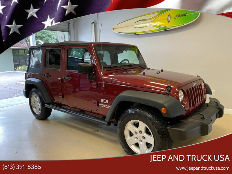 2008 Jeep Wrangler Unlimited for sale at Jeep and Truck USA in Tampa FL