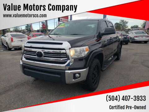 2016 Toyota Tundra for sale at Value Motors Company in Marrero LA