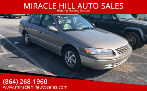 1999 Toyota Camry for sale at MIRACLE HILL AUTO SALES in Greenville SC