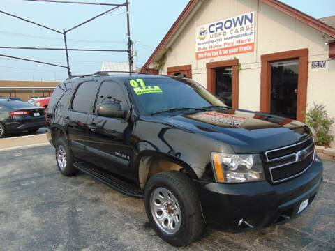 2007 Chevrolet Tahoe for sale at Crown Used Cars in Oklahoma City OK