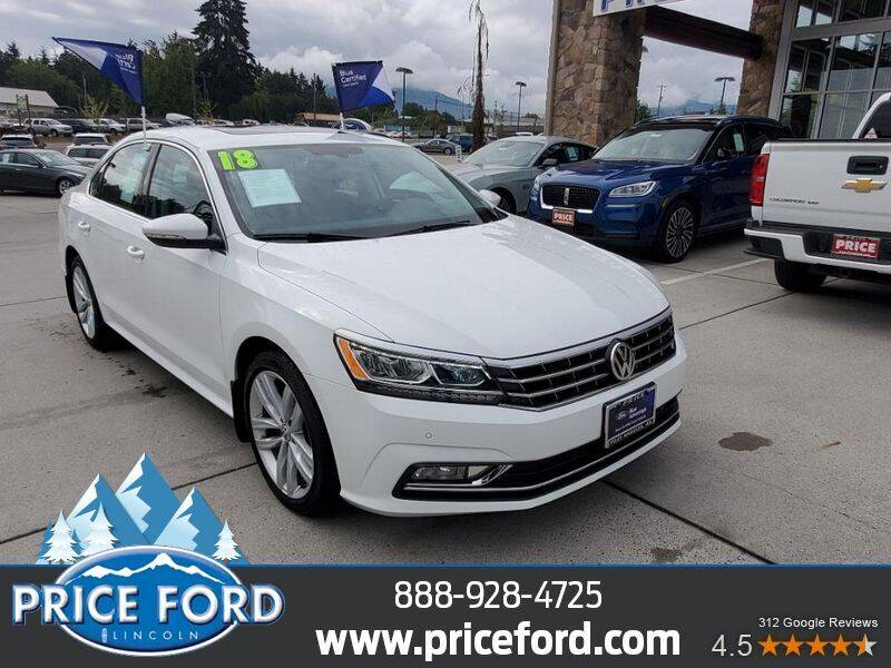 2018 Volkswagen Passat for sale at Price Ford Lincoln in Port Angeles WA