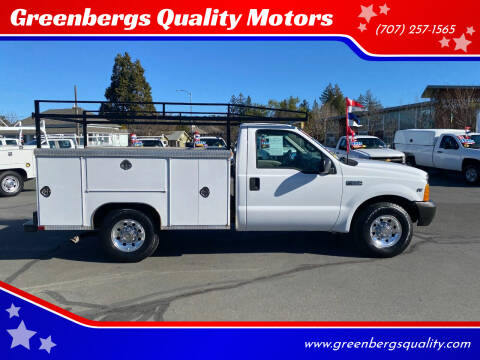 2001 Ford F-250 Super Duty for sale at Greenbergs Quality Motors in Napa CA