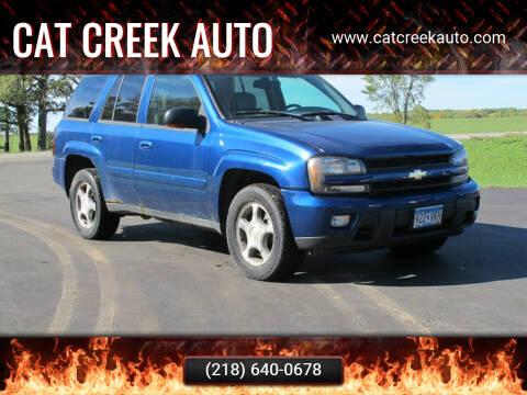 2005 Chevrolet TrailBlazer for sale at CAT CREEK AUTO in Menahga MN