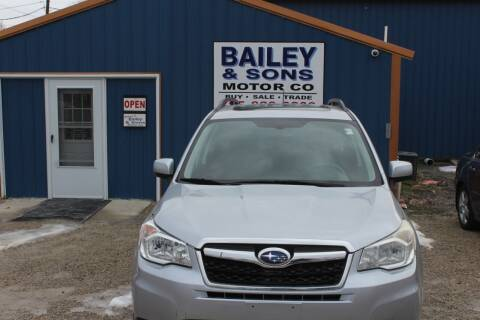 2014 Subaru Forester for sale at Bailey & Sons Motor Co in Lyndon KS