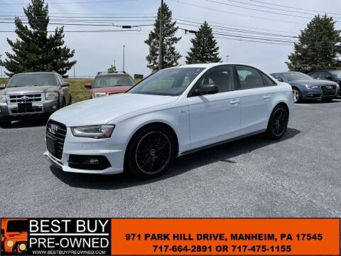2016 Audi A4 for sale at Best Buy Pre-Owned in Manheim PA