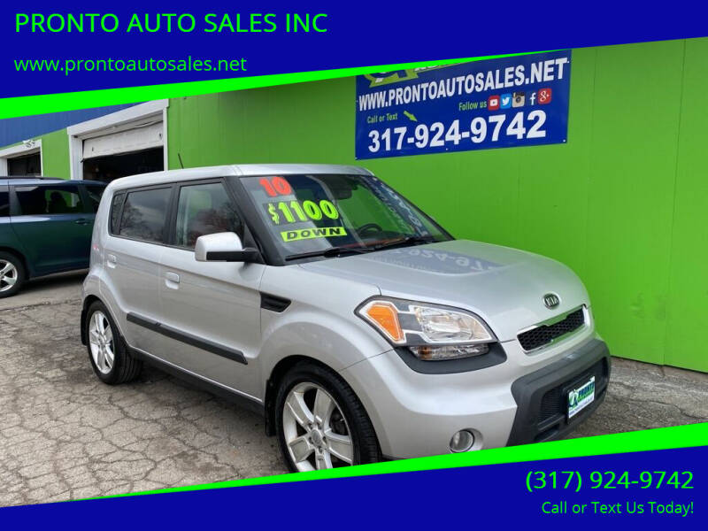 2010 Kia Soul for sale at PRONTO AUTO SALES INC in Indianapolis IN