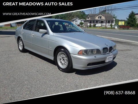2001 BMW 5 Series for sale at GREAT MEADOWS AUTO SALES in Great Meadows NJ