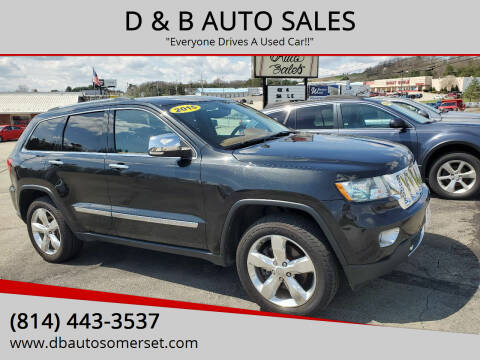 2013 Jeep Grand Cherokee for sale at D & B AUTO SALES in Somerset PA