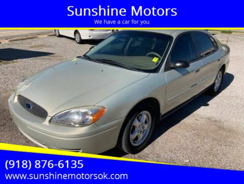 2005 Ford Taurus for sale at Sunshine Motors in Bartlesville OK