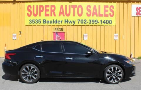 2016 Nissan Maxima for sale at Super Auto Sales in Las Vegas NV