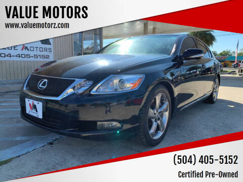 2009 Lexus GS 350 for sale at VALUE MOTORS in Kenner LA