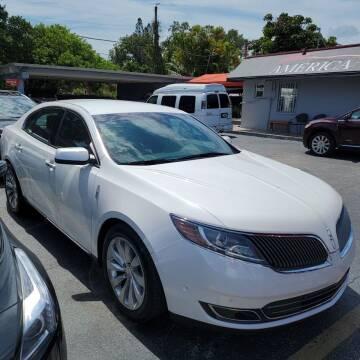 2016 Lincoln MKS for sale at America Auto Wholesale Inc in Miami FL