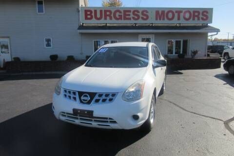 2013 Nissan Rogue for sale at Burgess Motors Inc in Michigan City IN
