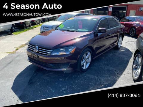 2013 Volkswagen Passat for sale at 4 Season Auto in Milwaukee WI