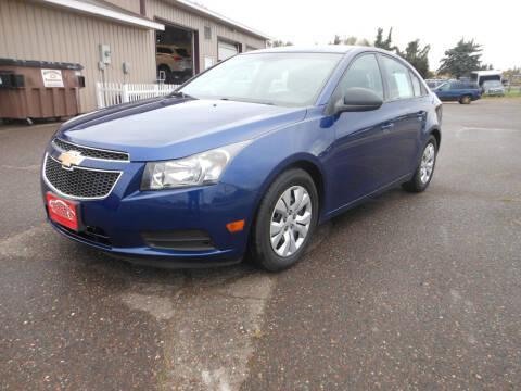 2013 Chevrolet Cruze for sale at DANCA'S KAR KORRAL INC in Turtle Lake WI