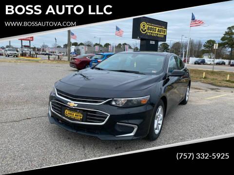 2016 Chevrolet Malibu for sale at BOSS AUTO LLC in Norfolk VA