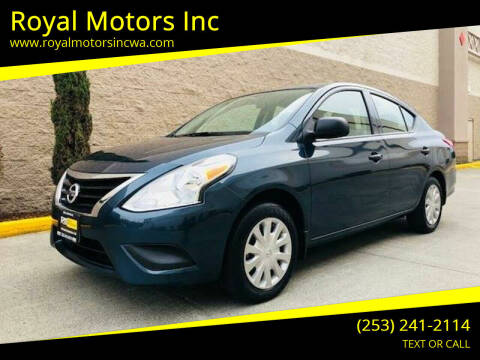 2015 Nissan Versa for sale at Royal Motors Inc in Kent WA