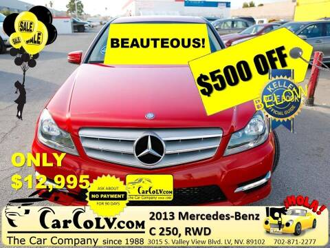2013 Mercedes-Benz C-Class for sale at The Car Company in Las Vegas NV