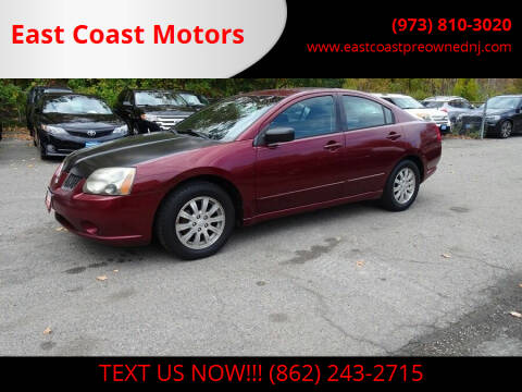 2006 Mitsubishi Galant for sale at East Coast Motors in Lake Hopatcong NJ