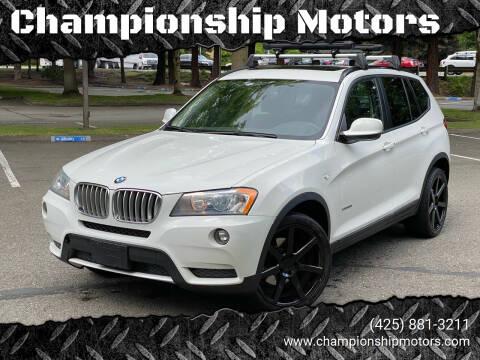 2014 BMW X3 for sale at Championship Motors in Redmond WA