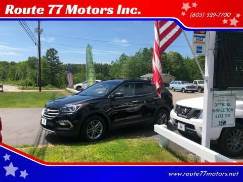 2018 Hyundai Santa Fe Sport for sale at Route 77 Motors Inc. in Weare NH