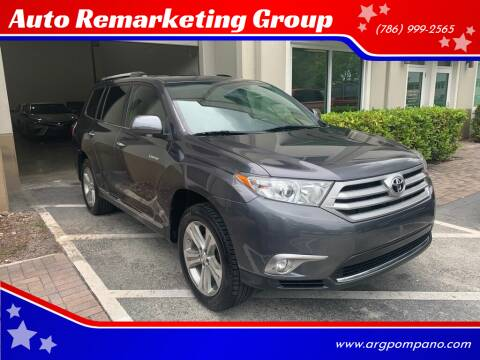 2012 Toyota Highlander for sale at Auto Remarketing Group in Pompano Beach FL