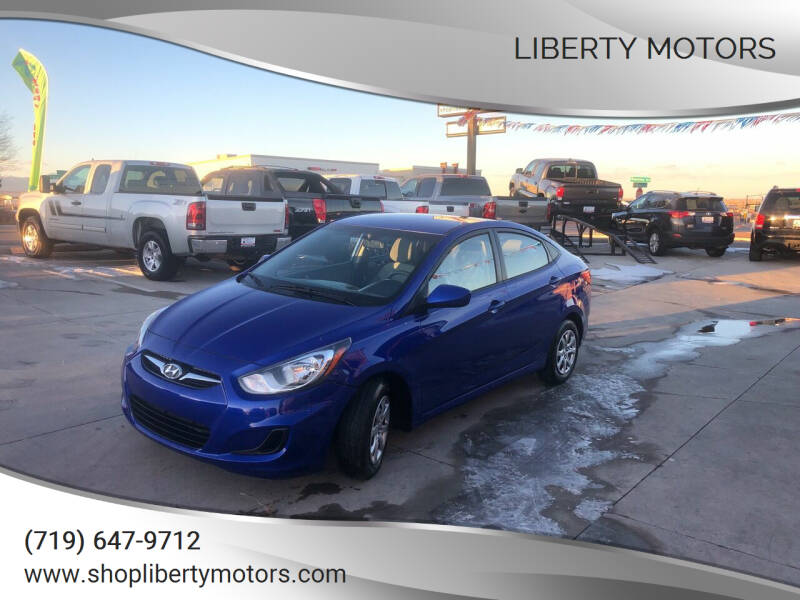 2014 Hyundai Accent for sale at LIBERTY MOTORS in Pueblo West CO