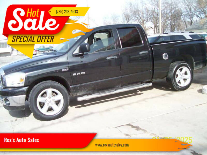 2008 Dodge Ram Pickup 1500 for sale at Rex's Auto Sales in Junction City KS