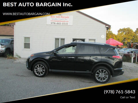 2018 Toyota RAV4 Hybrid for sale at BEST AUTO BARGAIN inc. in Lowell MA