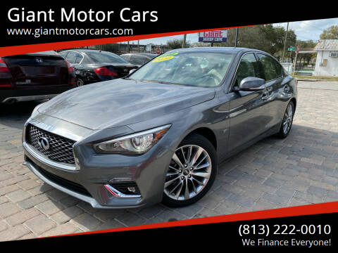 2020 Infiniti Q50 for sale at Giant Motor Cars in Tampa FL