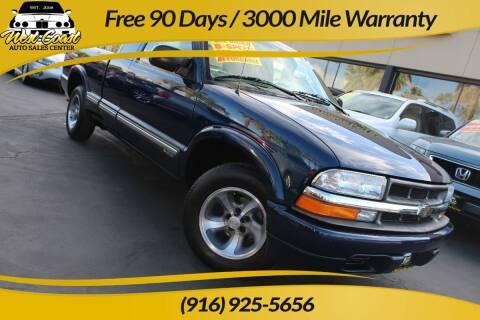 2001 Chevrolet S-10 for sale at West Coast Auto Sales Center in Sacramento CA