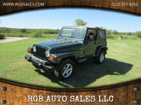 2000 Jeep Wrangler for sale at RGB AUTO SALES LLC in Manor TX