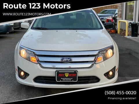 2012 Ford Fusion for sale at Route 123 Motors in Norton MA