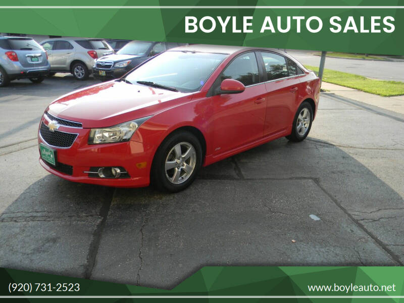 2013 Chevrolet Cruze for sale at Boyle Auto Sales in Appleton WI