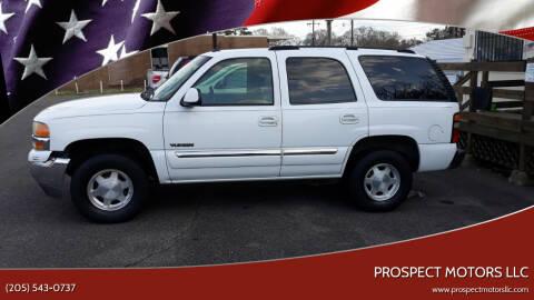 2005 GMC Yukon for sale at Prospect Motors LLC in Adamsville AL