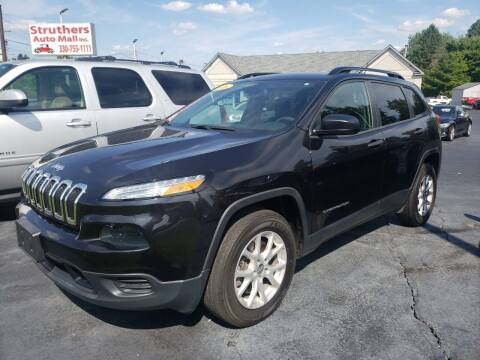 2016 Jeep Cherokee for sale at STRUTHER'S AUTO MALL in Austintown OH