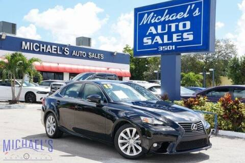 2015 Lexus IS 250 for sale at Michael's Auto Sales Corp in Hollywood FL
