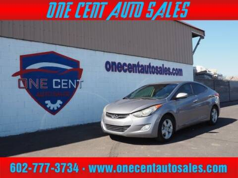 2013 Hyundai Elantra for sale at One Cent Auto Sales in Glendale AZ