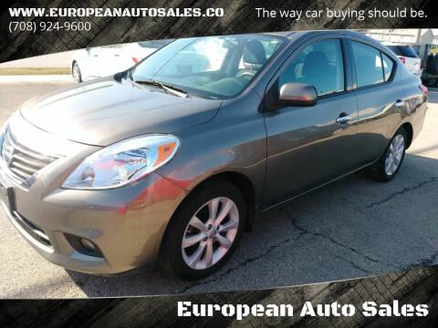2014 Nissan Versa for sale at European Auto Sales in Bridgeview IL